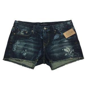 Cult of Individuality BOHO Tantra Denim Shorts